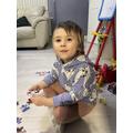 Gabriela enjoying a jigsaw 😀