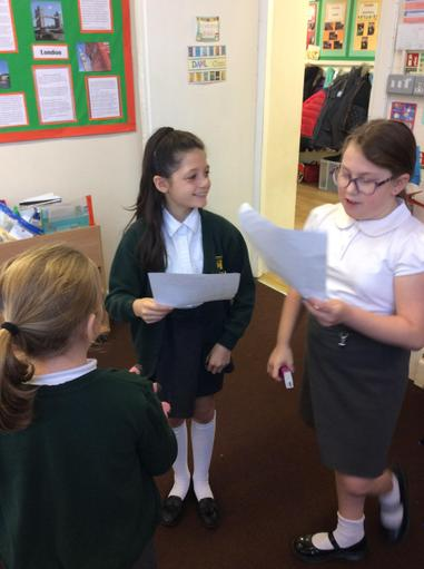 Performing our playscripts.