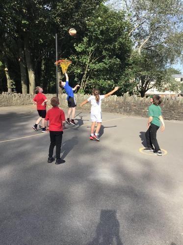 Team games in Sports club.