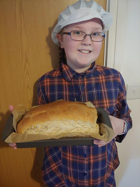 Tempy with her bread