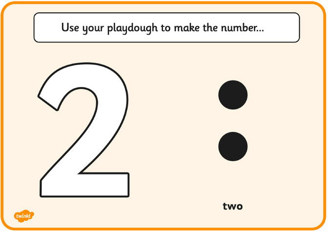 Use your play dough to make the number of balls and make the numeral.