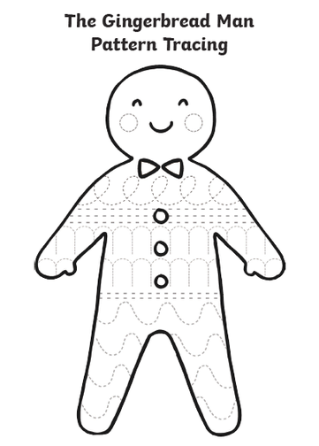 Decorate the gingerbread man in patterns!