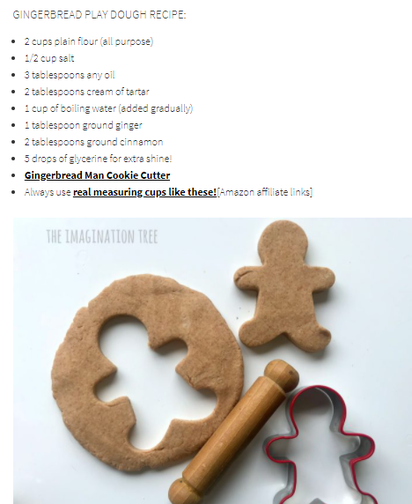What you need to bake gingerbread people.