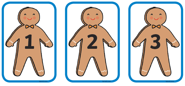 Cut out the gingerbread men and put the in order.