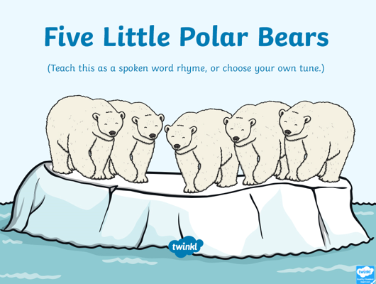 5 Little Polar Bears rhyme