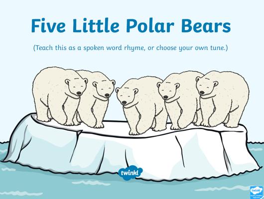 5 Little Polar Bears rhyme