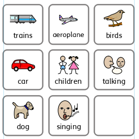 What sounds can you hear outside?