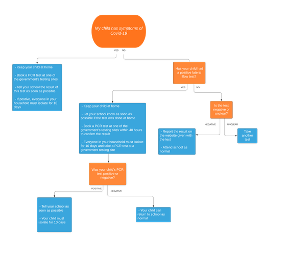 Staffordshire County Council School Testing Flow Chart
