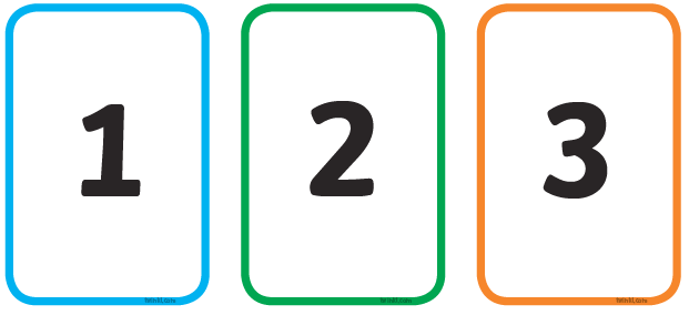 Use your number cards to match, put in order or practise finding the amount