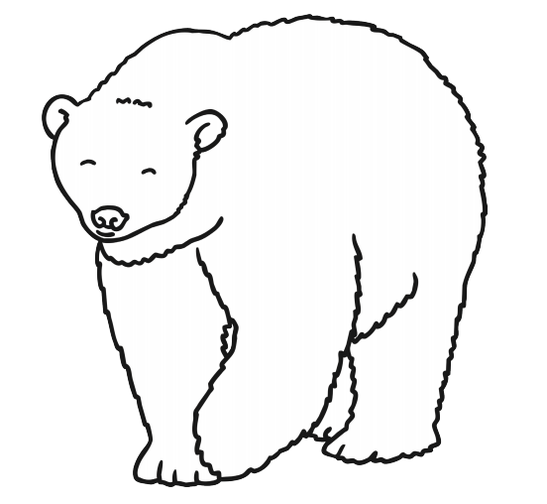Add some texture to the polar bear for your book.