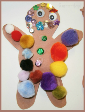 Decorate your gingerbread man how ever you want!
