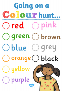 What colours can you find inside and outside?
