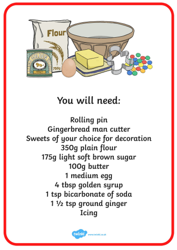 Let's get cooking and make some gingerbread men...yummy!