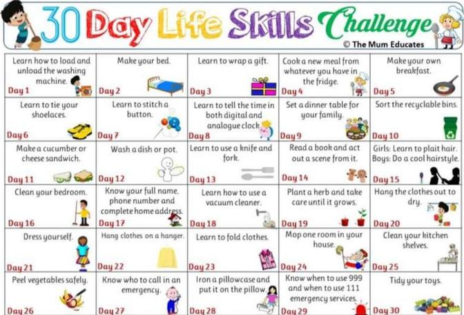 Can you try the 30 day life skills challenge with an adult?