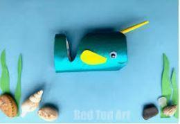 toilet roll, paint,