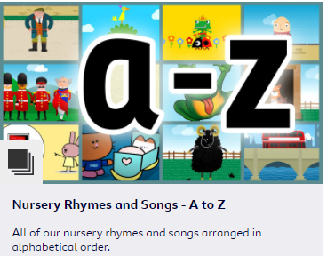 Choose a nursery rhyme and join in with the actions