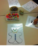 Try this....let's add 3 buttons to our gingerbread man.