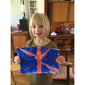 R has created some VE day decorations