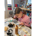We have made clay figures and painted them