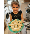 A has baked lemon biscuits. Yum!