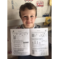 L has been busy working out maths answers