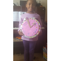 E has created a clock to help tell the time