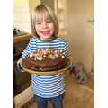 R has been busy baking a delicious cake