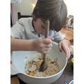 E has also been busy baking