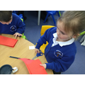 Making Chinese lanterns.