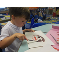 Painting our self-portraits.