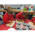 Reception - Making Diwa Lamps for Diwali