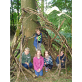 Year 3 - Den Building on our school trip