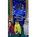 Reading in our pyjamas!