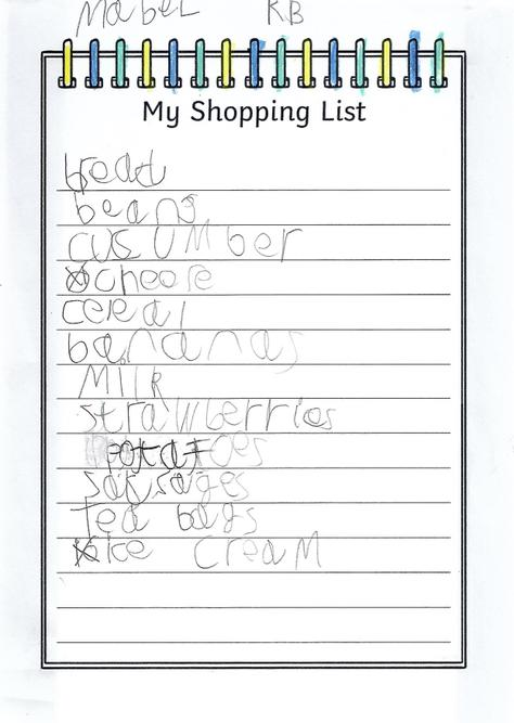 A great shopping list, Mabel!