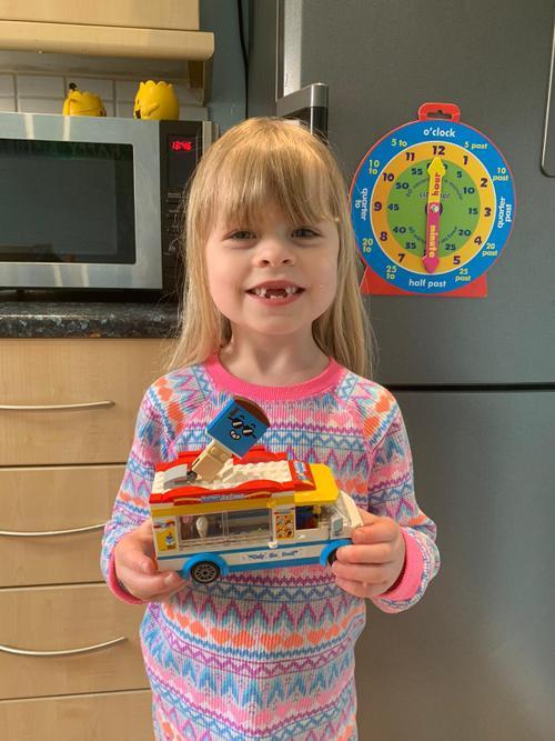 Grace's super Lego model.