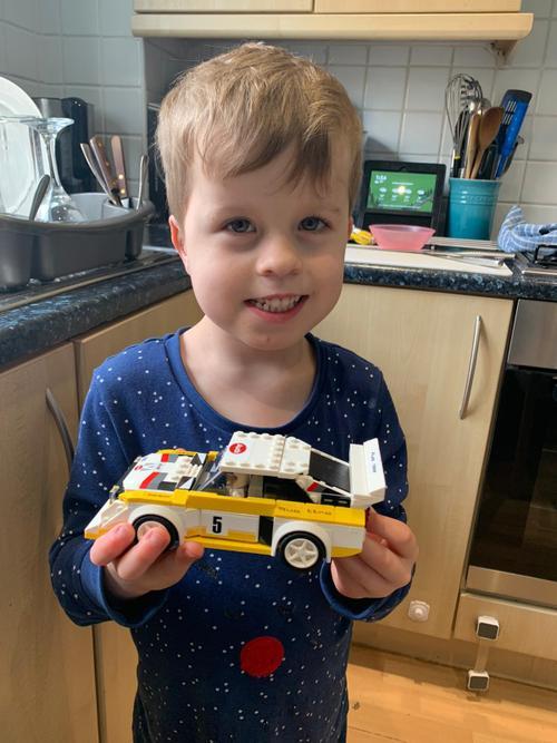 George's amazing Lego car.