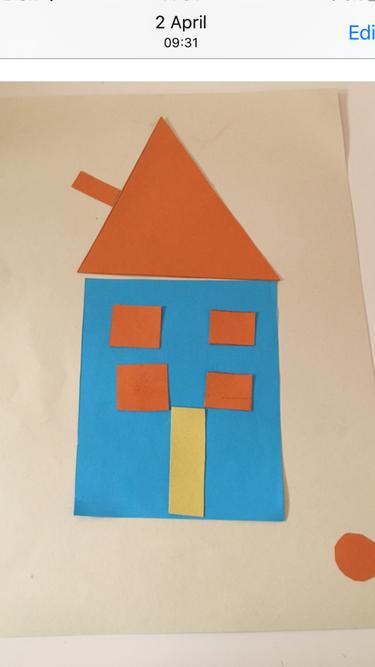 Sara and Sofia's 2d shape house