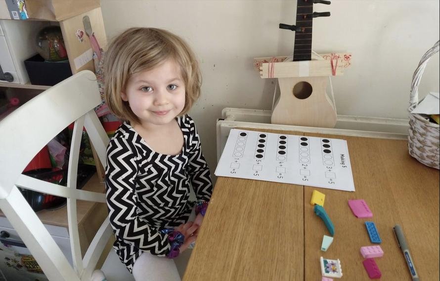 Beth has been practising her number bonds!