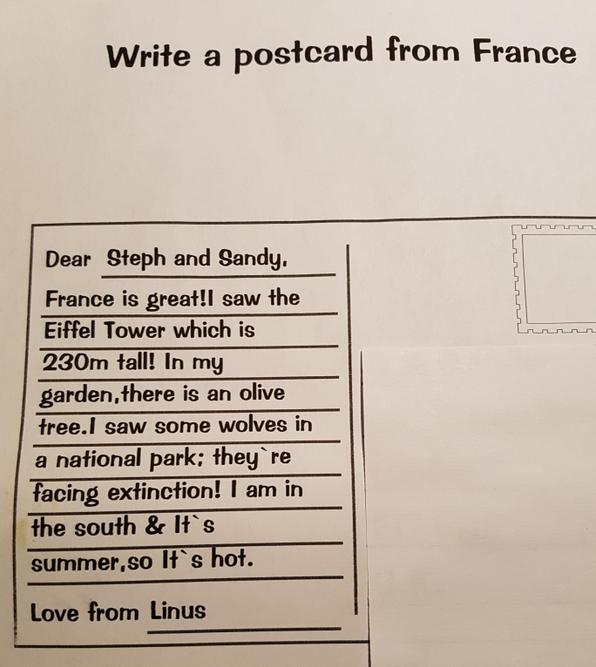 A wonderful postcard, Linus.