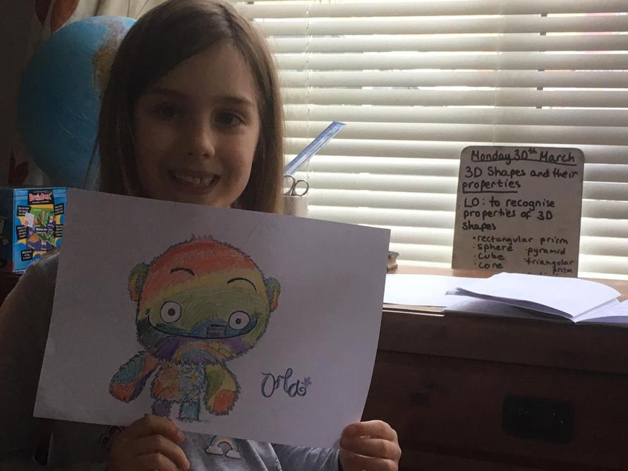Orla created a wonderful, colourful monster.