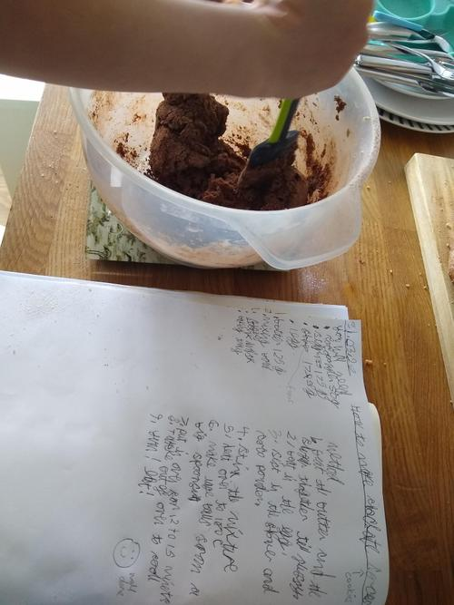 Luca's instructions and recipe.