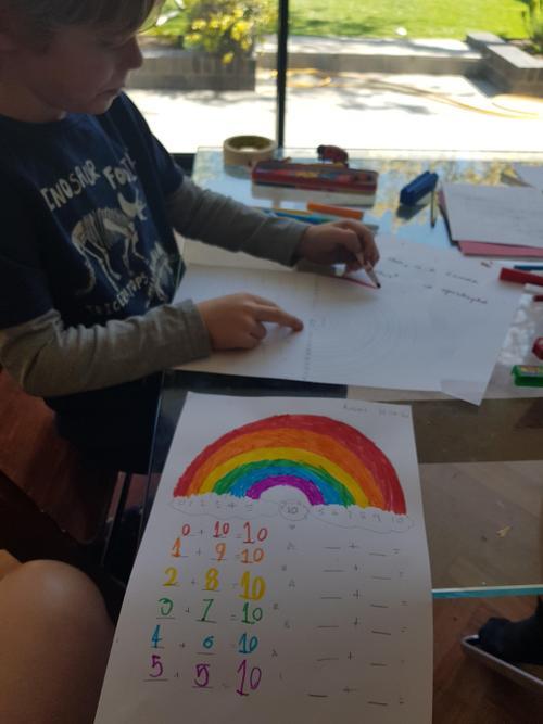 Auden's beautiful number bonds rainbow