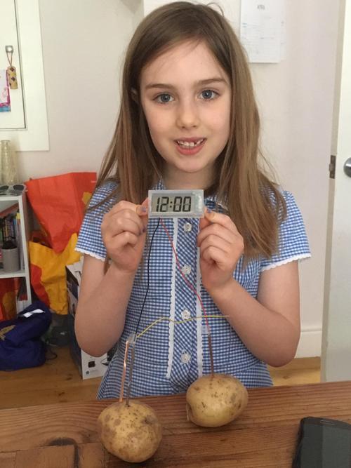 Made made an amazing potato clock!