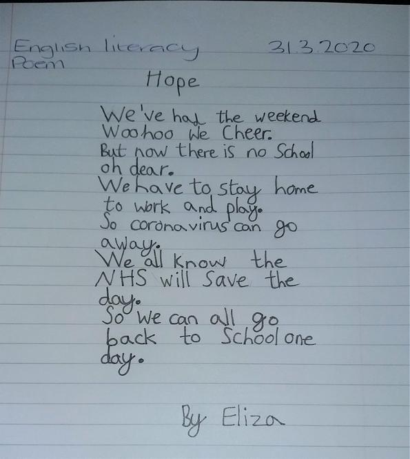 Eliza's heartfelt poetry