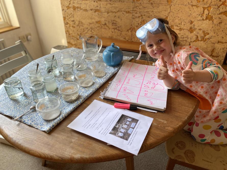 Martha is enjoying being a scientist!