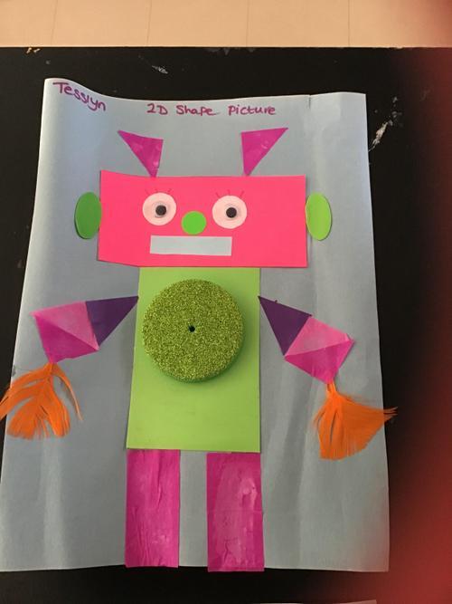 What an amazing 2D shape robot, Tesslyn!