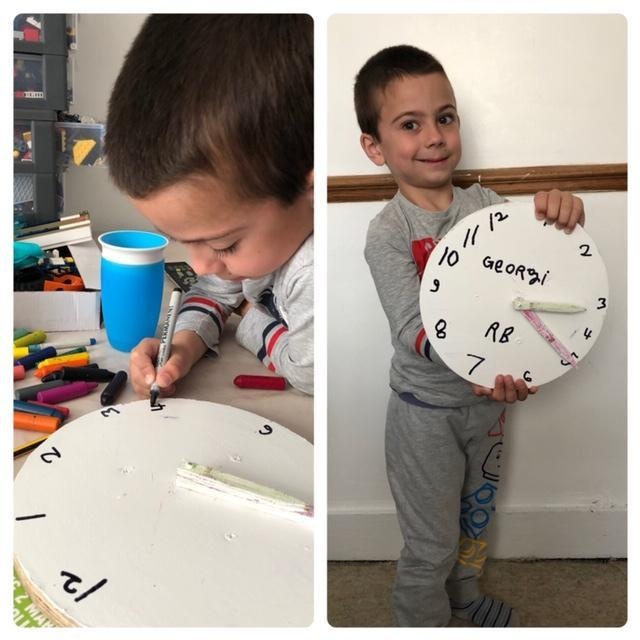 Georgi has made a lovely clock!