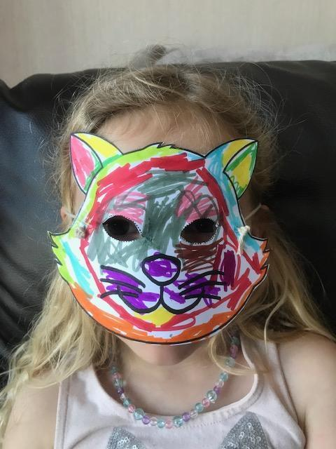 A lovely mask! Who do you think is behind it?