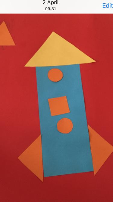 Sara and Sofia's 2d shape rocket
