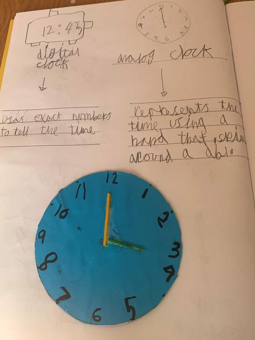 Azad's wonderful work about telling the time.